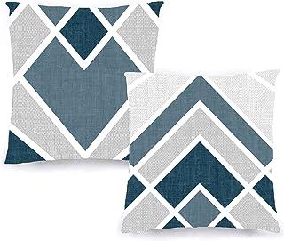 Decoratea Housses de Coussin 50x50 - Housses de Coussin décoratives (Lot de 2) pour canapé, lit, Chaise, Salon, Voiture. T...