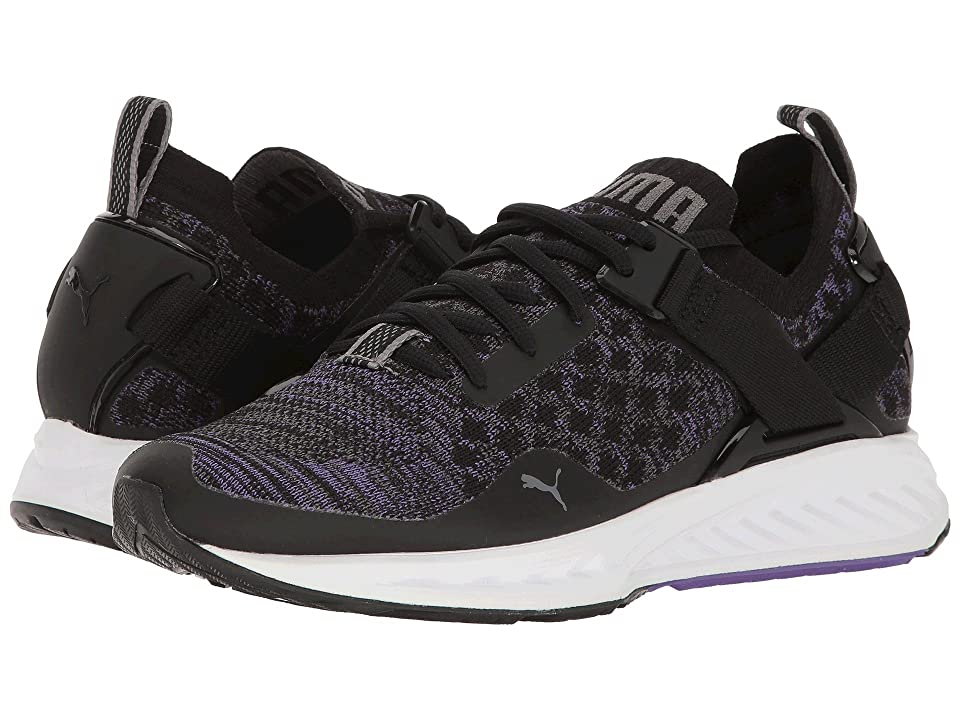 PUMA Ignite evoKNIT Lo (Puma Black/Electric Purple/Quiet Shade) Women
