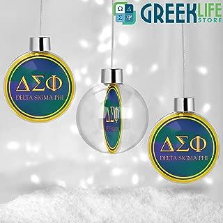 greeklife.store Delta Sigma Phi Round Ball Ornament Christmas Decor