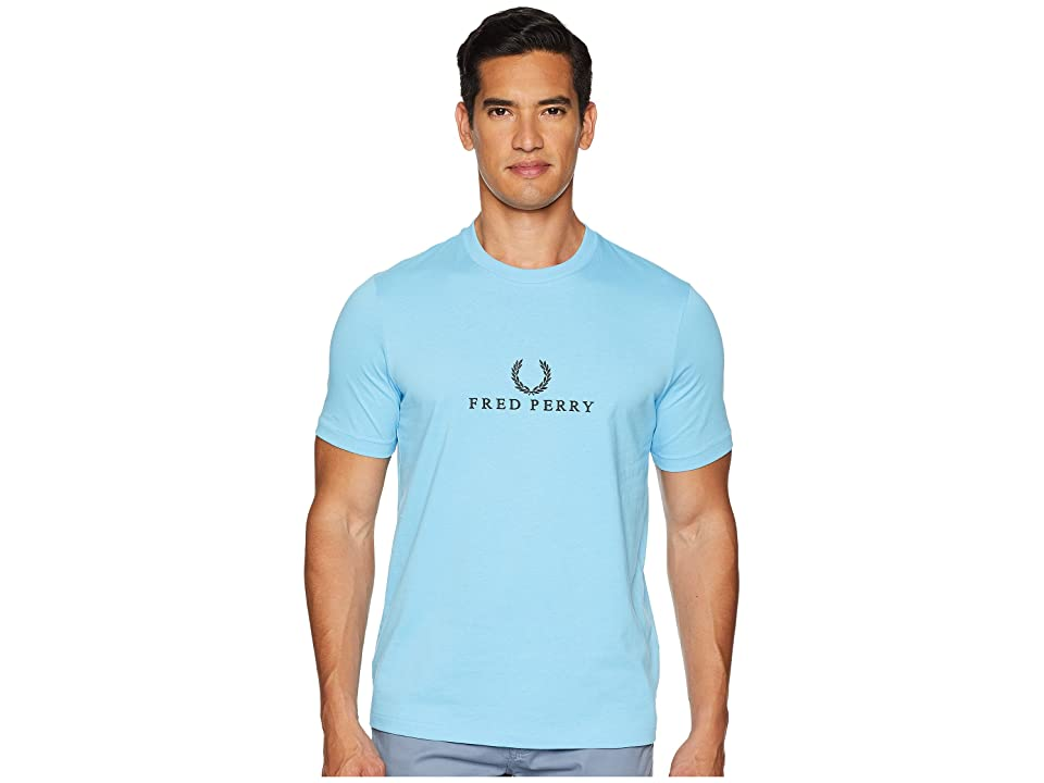 Fred Perry Embroidered T-Shirt (Alaskian Blue) Men