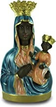 Ferrari & Arrighetti Black Madonna of Czstochowa Statue, Hand-Painted Nacred Plaster (25 cm)