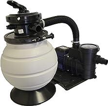 Bomba de filtro de arena de 5m³ / h con prefiltro y VÁLVULA de 6 VÍAS para piscinas montadas hasta 25 m³