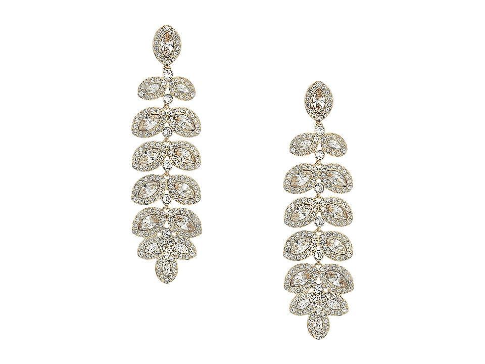 Swarovski Baron Pierced Earrings (Rose Gold/White) Earring