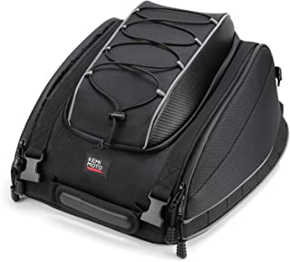 Motorcycle Tail Bag Seat Luggage Bag for Sportster Dyna Softail Touring Models with Rain Cover and Straps Travel Saddle Bag