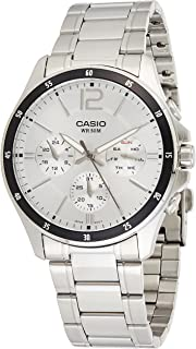 Casio Men's Dial Stainless Steel Band Watch - MTP-1374D-7AVDF