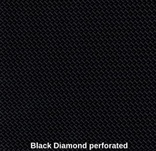 Marine Vinyl Waterproof Black Diamond Perforated 54 Inch Fabric By the Yard Sold (Luvfabrics)