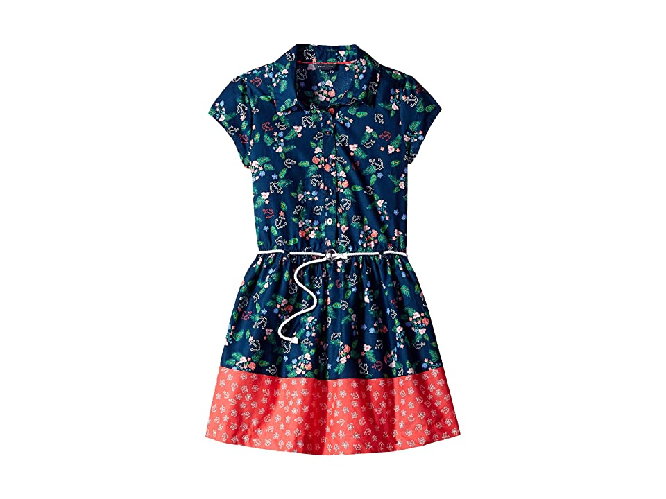 Tommy Hilfiger Kids Border Print Shirtdress (Big Kids) (Flag Blue) Girl