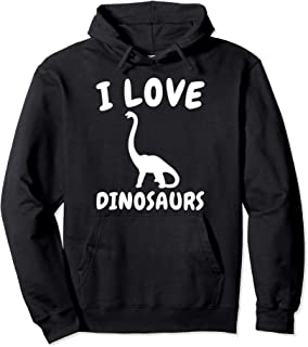 I Love Dinosaurs Pullover Hoodie - Funny Dinosaur Lover Gift