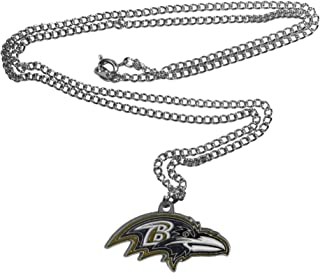 NFL Siskiyou Sports Fan Shop Baltimore Ravens Chain Necklace 22 inch Team Color