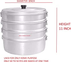 VPSK SINGLA 4 TIER ALUMINIUM MOMOS STEAMER (DIAMETER 8 INCH HEIGHT 11 INCH ) USED FOR ONLY HOME PURPOSE