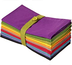 COTTON CRAFT Classic Cotton Set of 12 Pure Cotton Solid Color Dinner Napkins, 20 inch x 20 inch, Assorted Colors Multi Pack
