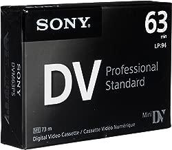 Sony DVM63PS MiniDV 63min Professional Standard - 10 Pack