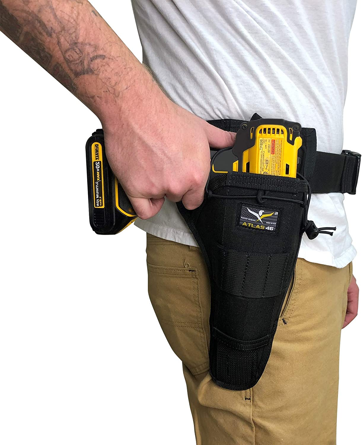 Atlas 46 AIMS Large Drill Holster - Hand crafted in the USA (Right Handed, Coyote)