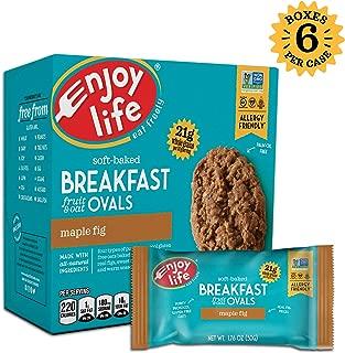 Enjoy Life Gluten Free Nut Free & Vegan Breakfast Cookies, Maple Fig, 6 Count Boxes, 30 Bars
