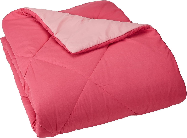 AmazonBasics Reversible Microfiber Comforter  Twin Twin XL, Pink, 4-Pack