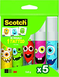 Scotch Bâtons de colle, Multicolore, Lot de 5
