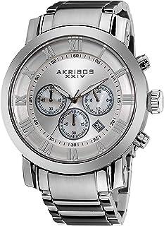 Akribos XXIV Men's AK622 'Grandiose' Chronograph Quartz Stainless Steel Bracelet Watch