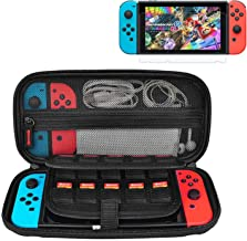 Nintendo Switch Case, CACACOL Hard Shell Game Traveler Travel Carrying Box Case for Nintendo Switch with 20 Game Cards Hol...