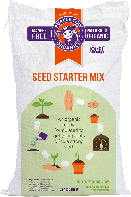 Purple Finally popular Las Vegas Mall brand Cow Organics Seed Starter QT 12 Mix Bag