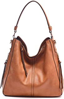 DDDH Vintage Hobo Handbags Shoulder Bags Durable Leather Tote Messenger Bags  Bucket Bag for Women  f2a39615ae474