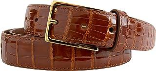 Beynat et Janniaux - Cinturón de piel de cocodrilo, color marrón