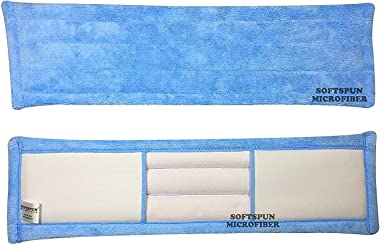 SOFTSPUN Microfiber Wet & Dry Cleaning Mop Refill - Sky Blue - 19inches