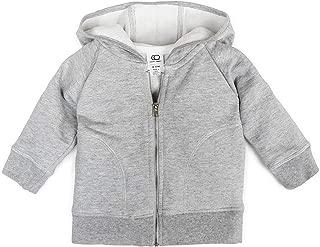 Colored Organics Baby, Toddler, and Kids Organic Cotton Zip-Up Hoodie Sweatshirt