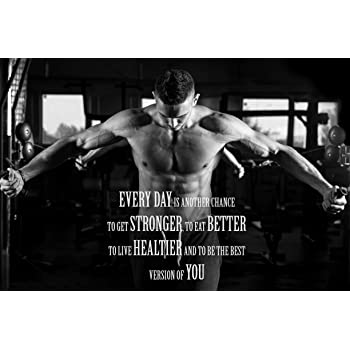 """529 GYM Body Building Keep Fit Muscle Exercise Work Out 38/""""x24/"""" Poster"""