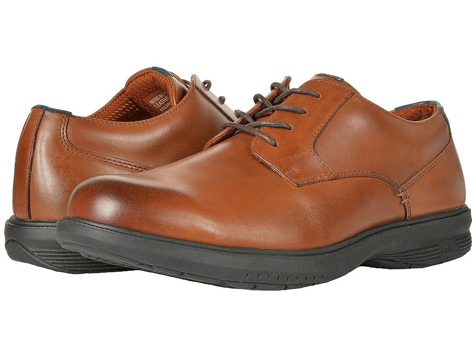 Nunn Bush Marvin Street Plain Toe Oxford with KORE Slip Resistant Walking Comfort Technology (Tan) Men
