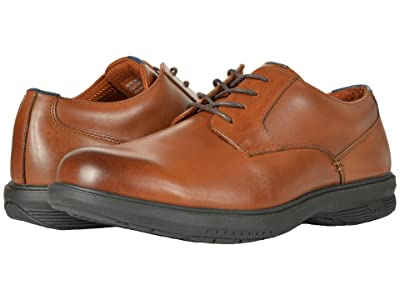 Nunn Bush Marvin Street Plain Toe Oxford with KORE Slip Resistant Walking Comfort Technology (Tan) Men