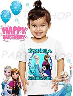 Frozen Birthday Shirt, Elsa, Anna and Olaf Frozen Birthday Party, Add Any Name and Age, Family Matching Shirts, Girls Birthday Shirts, Frozen Elsa, Anna and Olaf T Shirts Party Girls 1