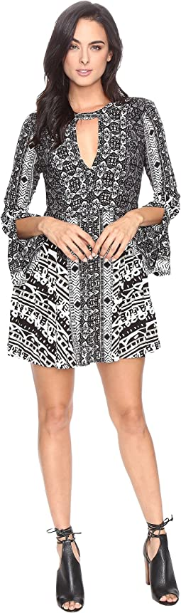 Teagan Printed Mini Dress