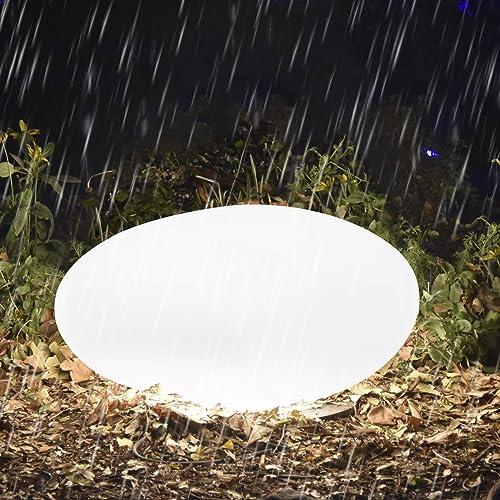 Homever Lampe Solaire Extérieur, 40 cm Lumière solaire de pelouse avec Télécommande, Réglable 16 Couleurs et 4 Modes ...