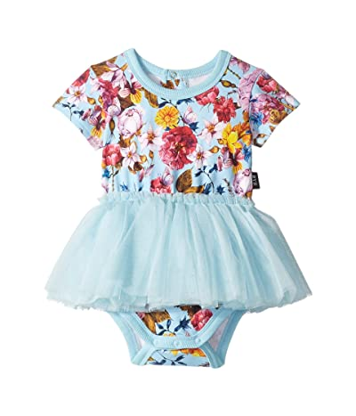 Rock Your Baby Nothing But Flowers Short Sleeve Circus Dress (Infant) (Light Blue) Girl