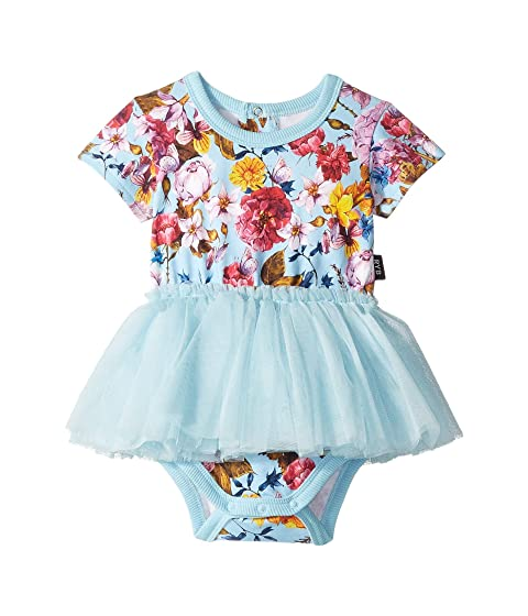 Rock Your Baby Nothing But Flowers Short Sleeve Circus Dress (Infant)