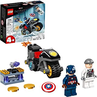 LEGO 76189 Marvel Captain America and Hydra Face-Off Building Set, Super Hero Toy for Kids Age 4 + with Motorbike, New 2021