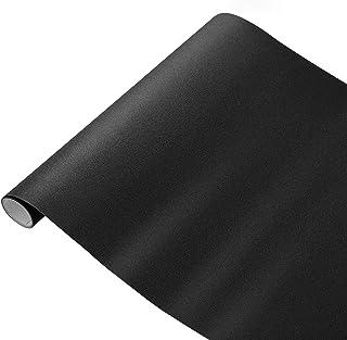Room Darkening Blackout Window Film Self-adhesive Privacy Window Film Protection Window Tint Stickers (Black)