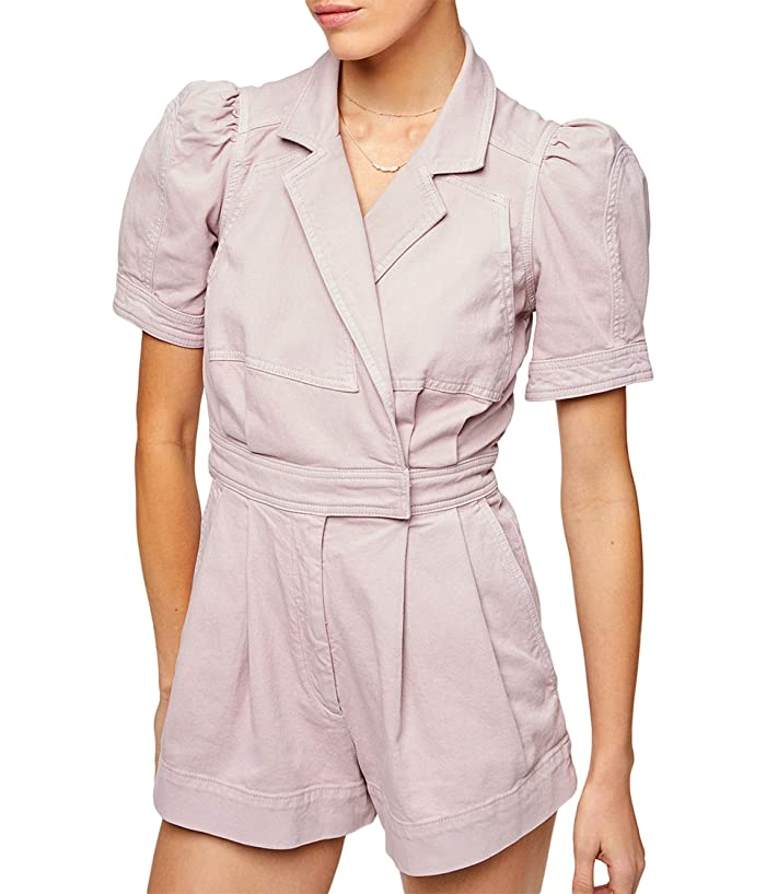 1930s Style Clothing and Fashion 7 For All Mankind Seamed Romper in Soft Lavender Soft Lavender Womens Jumpsuit  Rompers One Piece $248.00 AT vintagedancer.com