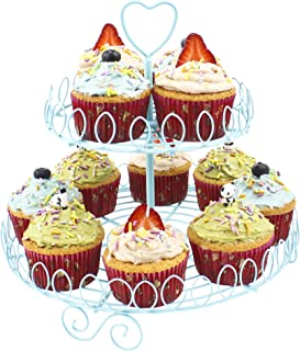 Zoie + Chloe Princess Cupcake Stand Holder Display - 2 Tier Holds 12 Cupcakes
