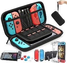 HEYSTOP Nintendo switch fodral - Nintendo Switch bärväska + brytare fodral + HD brytare skärmskydd + tumgrepp kepsar för N...