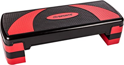 Unibest Aerobic Stepper Steppbrett Fitness 3-fach höhenverstellbar 80x30cm