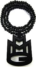 Hip Hop Jewels Large Wooden Rick Ross MMG Black Wood Pendant & Chain