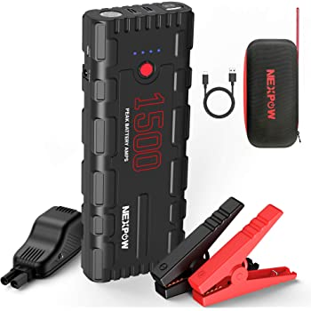 YABER Car Jump Starter,1200A Peak 15000mAh Battery Jump Starter up to 7.5L Gas//6.0L Diesel Engine ,12V Auto Battery Booster,IP68 Waterproof Portable Power Pack with QC3.0 Ports and LED Flashlight