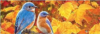 Custom Décor Azure Bluebirds Harvest Leaves Durable PVC 15 x 5 Decorative Signature Sign