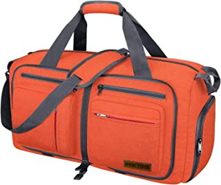 Travel Duffel Bag, 55L Foldable Duffle Bag with Shoes Compartment Packable Weekender Bag for Men Women Water-proof & Tear ...