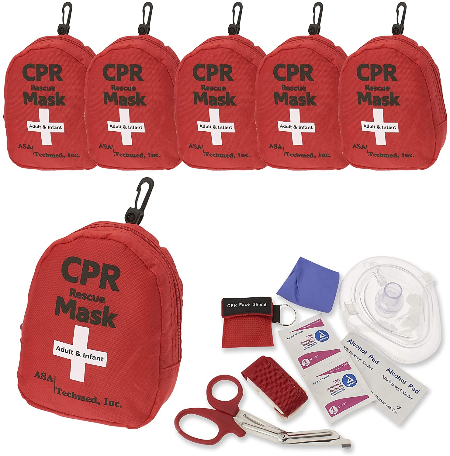 6 Pack Emergency First Aid Kit Max 86% OFF Pocket Mask CPR - Resusci Rescue Sales