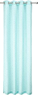 Grommet Curtains for Living Room, Global Inspired Fabric Aqua Window Curtains for Bedroom Family Room, Aptos Global Modern Opaque Living Room Curtains, 50x95, 1-Panel Pack