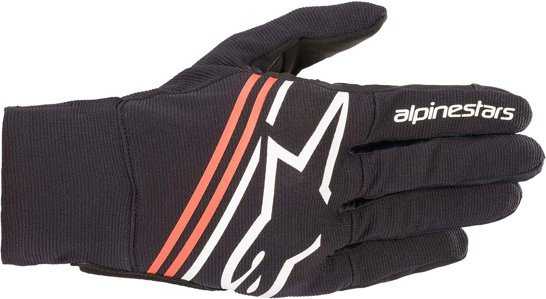 Alpinestars Reef Motorrad Handschuhe Schwarz Weiß Rot M Auto