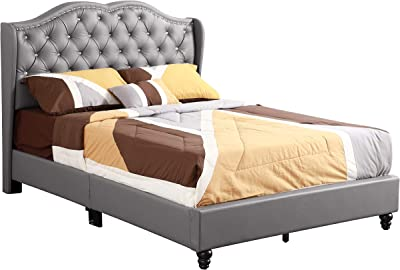Glory Furniture Upholstered Bed Full Gray