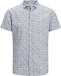 Jack & Jones Jprblasummer Blackburn Shirt S/S STS Camisa para Hombre
